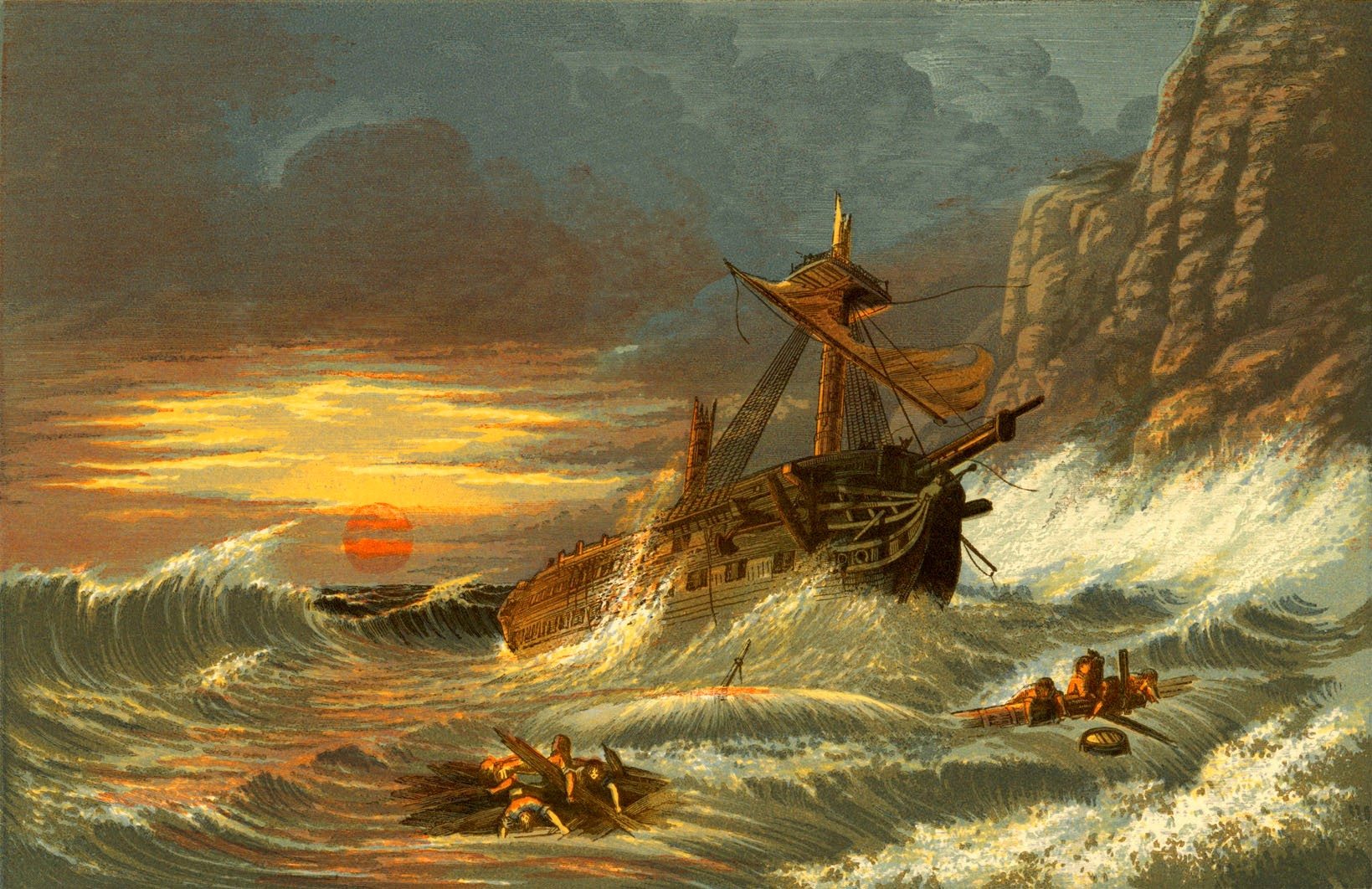 A painting of a shipwreck