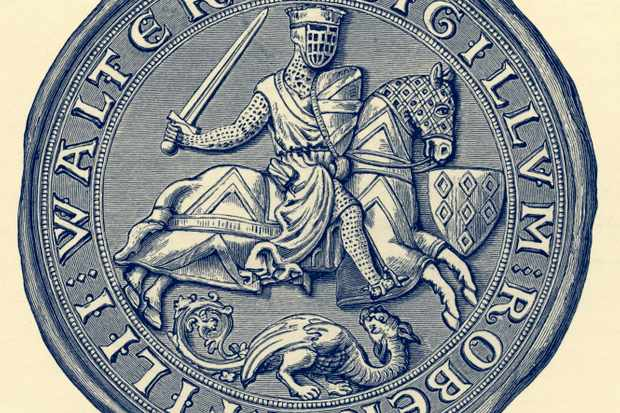 Seal of Robert Fitz-Walter. Leader of the baronial opposition against King John and one of twenty-five sureties of Magna Carta. Died 9 December 1235.  (Photo by Culture Club/Getty Images) *** Local Caption ***