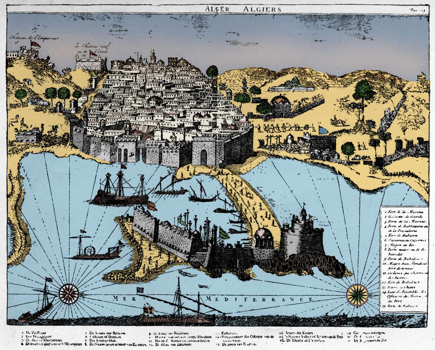 Map of Algiers, c1700. It was here that Icelanders, including Ólafur Egilsson, were sold into slavery. (Culture Club/Getty Images)