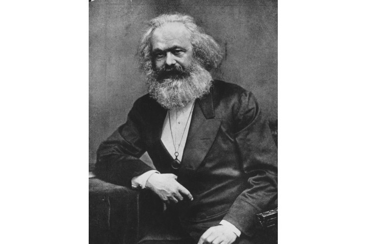 German social, political and economic theorist Karl Marx (1818 - 1883).   (Photo by Henry Guttmann/Getty Images)