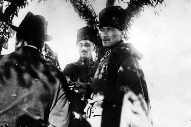 "Mustafa Kemal Atatürk. He ""had absolutely enormous charisma, which grew the older he got,"" says Norman Stone. (Hulton Archive/Getty Images)"