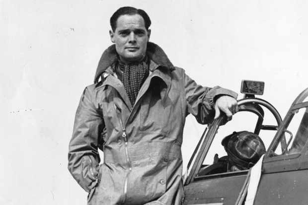 "Douglas Bader. ""It wouldn't be particularly good news to hear: 'Welcome onboard this Ryanair flight to Malaga. I'm Captain Bader,"" says Jonathan Agnew. (Photo by Evening Standard/Getty Images)"