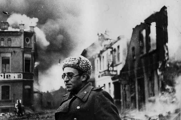Vasily Grossman with the Red Army in Schwerin, Germany, 1945. (Photo by Fine Art Images/Heritage Images/Getty Images)