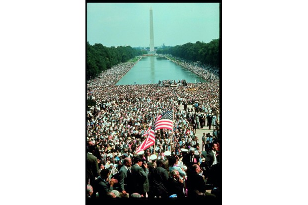 Some 250,000 civil rights supporters join the March on Washington in 1963