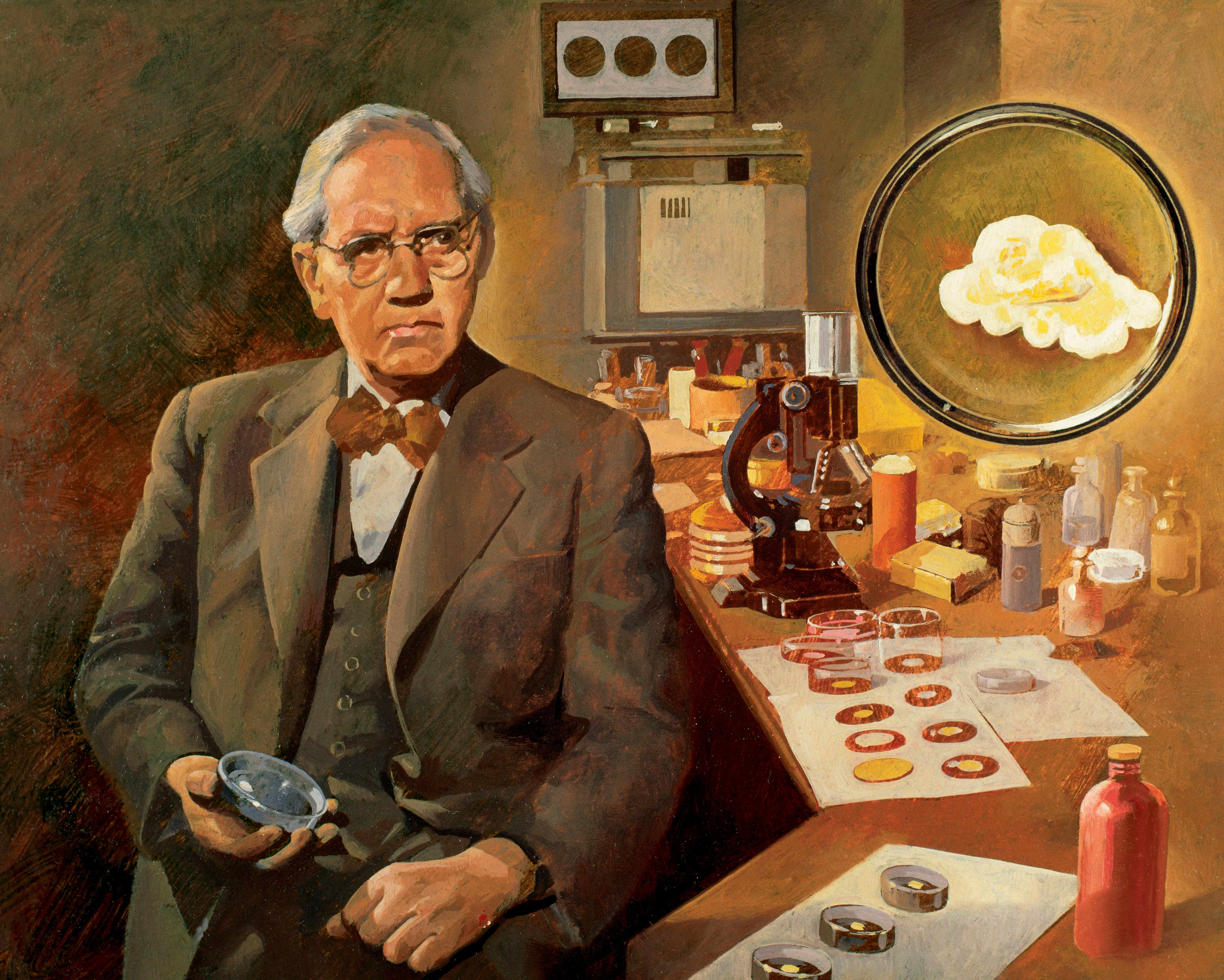 British microbiologist and discoverer of penicillin, Alexander Fleming. (Photo by Ipsumpix/Corbis via Getty Images)