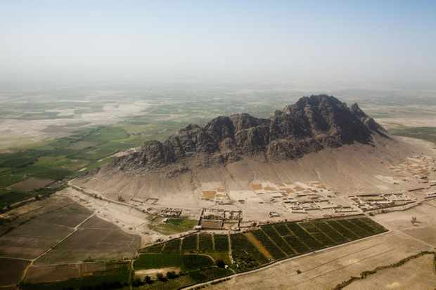 "An aerial view of Kandahar Province, Afghanistan. Geography has been ""enormously important"" to the way that political institutions develop, says Francis Fukuyama. ""Afghanistan today is proof of that."" (Sebastian Meyer/Corbis via Getty Images)"