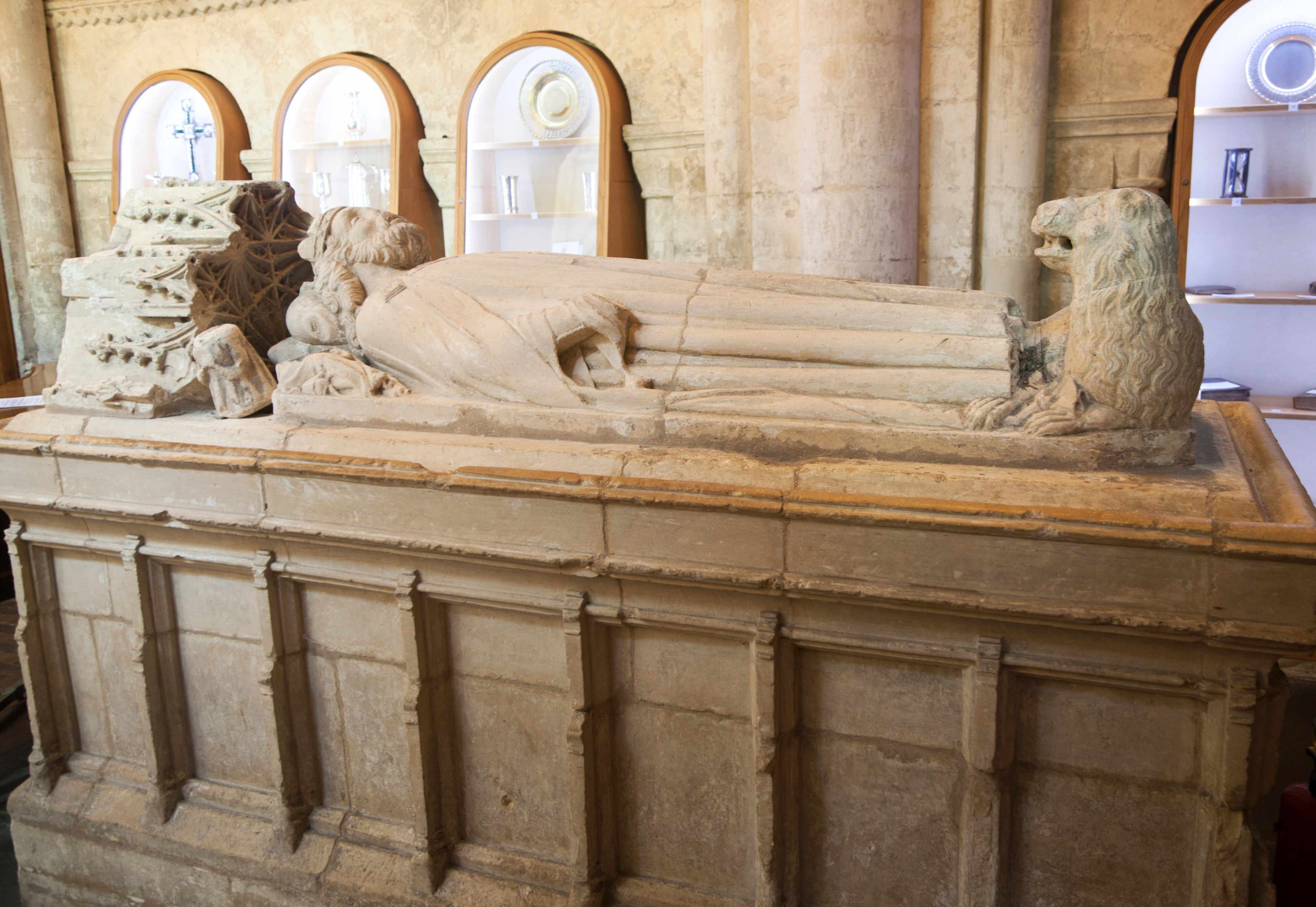 A memorial tomb to King Æthelstan, in Malmesbury Abbey, Wiltshire. (Photo by Geography Photos/UIG via Getty Images)