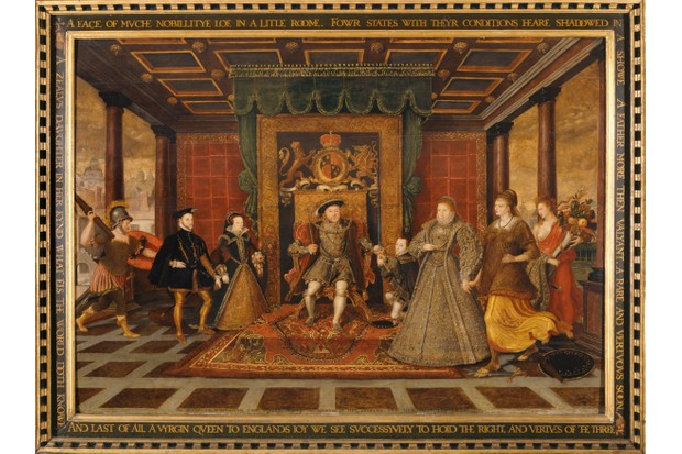 The family of Henry VIII: An Allegory of the Tudor Succession', 1572. Artist: King Henry Viii, Lucas De Heere. (Photo by National Museum & Galleries of Wales Enterprises Limited/Heritage Images/Getty Images)