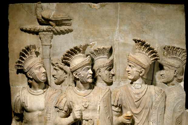 A second-century AD relief showing troops of the Praetorian Guard. Historians are agreed that the Ninth Legion was annihilated; what they can't agree on is where. (Leemage/Corbis via Getty Images)
