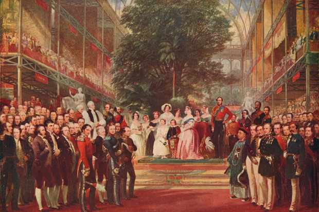 The opening of the Great Exhibition by Queen Victoria on 1 May 1851. (The Print Collector/Getty Images)