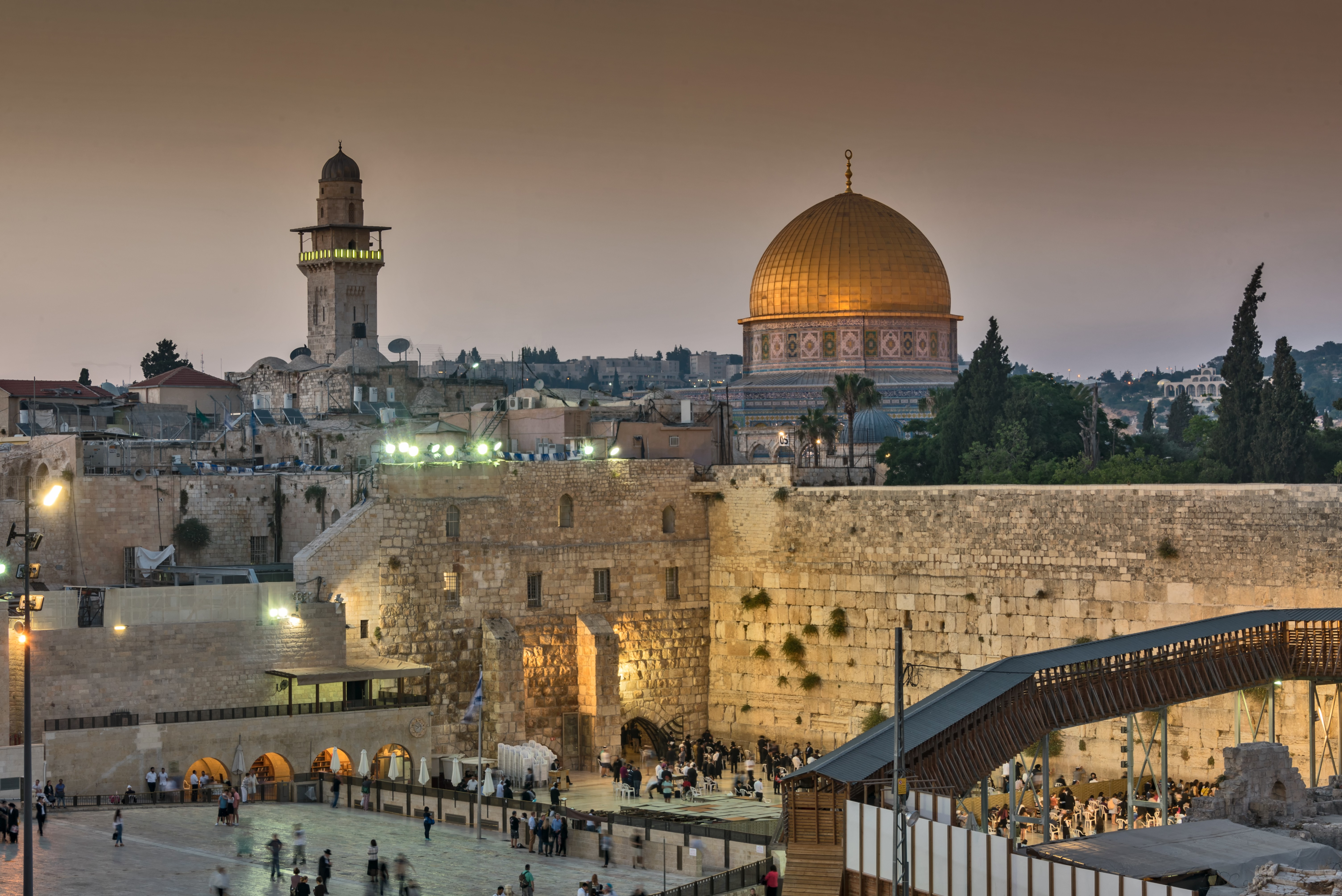 A view of Jerusalem's best known landmark the Dome of the Rock, a spectacular shrine on the site where Muhammad is said to have risen to heaven. (Getty Images)