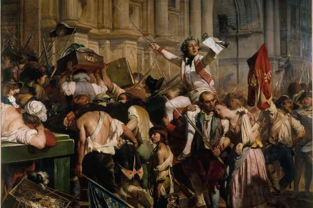 The vanquishers of the Bastille before the Hôtel de Ville, 14 July 1789. Found in the Collection of Petit Palais, Musée des Beaux-Arts de la Ville de Paris. (Photo by Fine Art Images/Heritage Images/Getty Images)