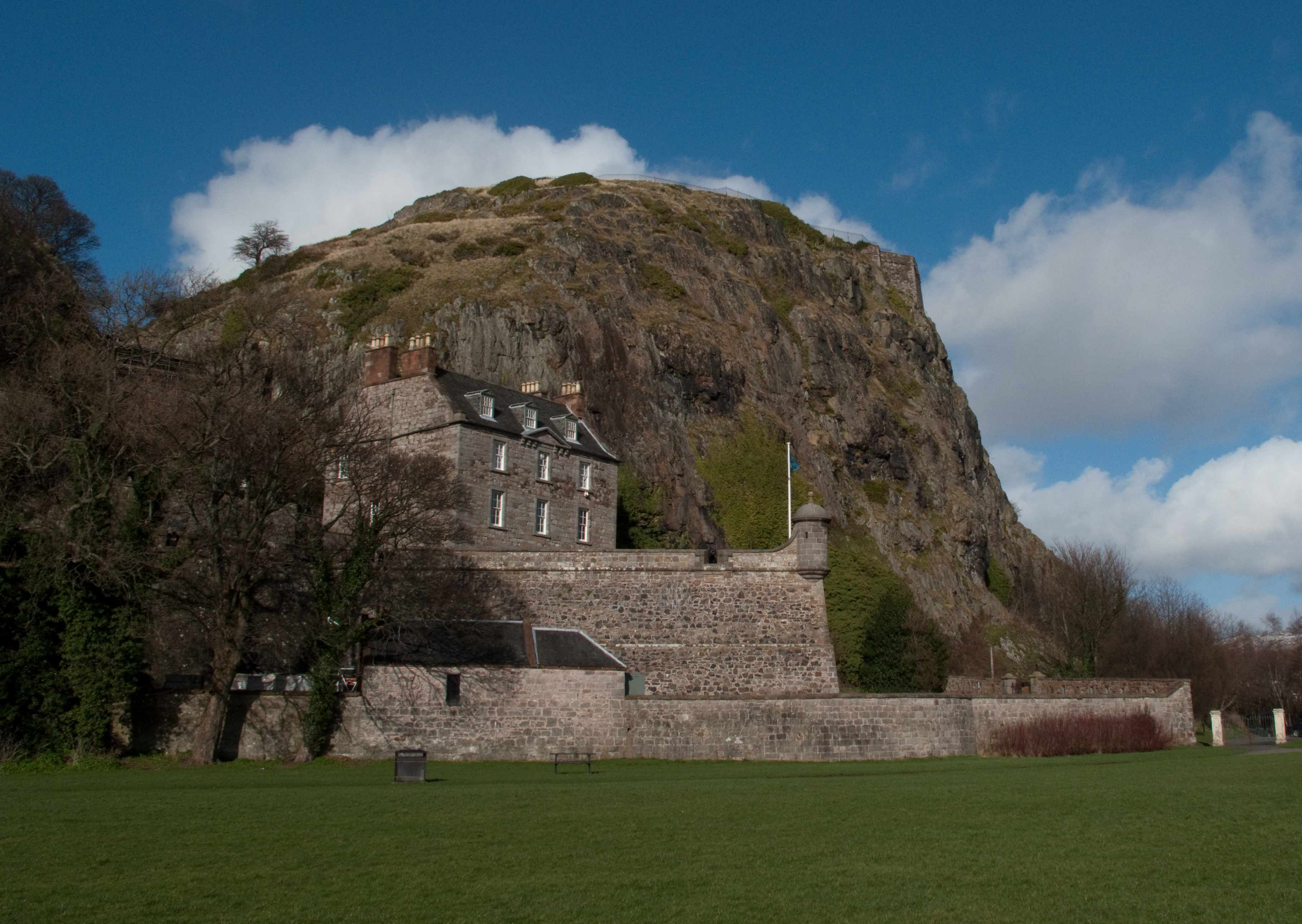 View across the river Clyde to Dumbarton Rock and the medieval Dumbarton Castle. (Photo by Martin W Holt via Getty Images)