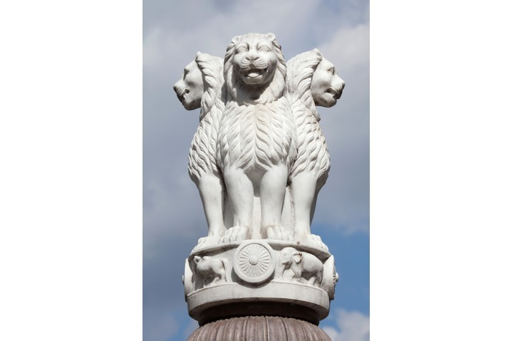 Lion Capital of the Pillars of Ashoka from Sarnath. (iStock / Getty Images Plus)