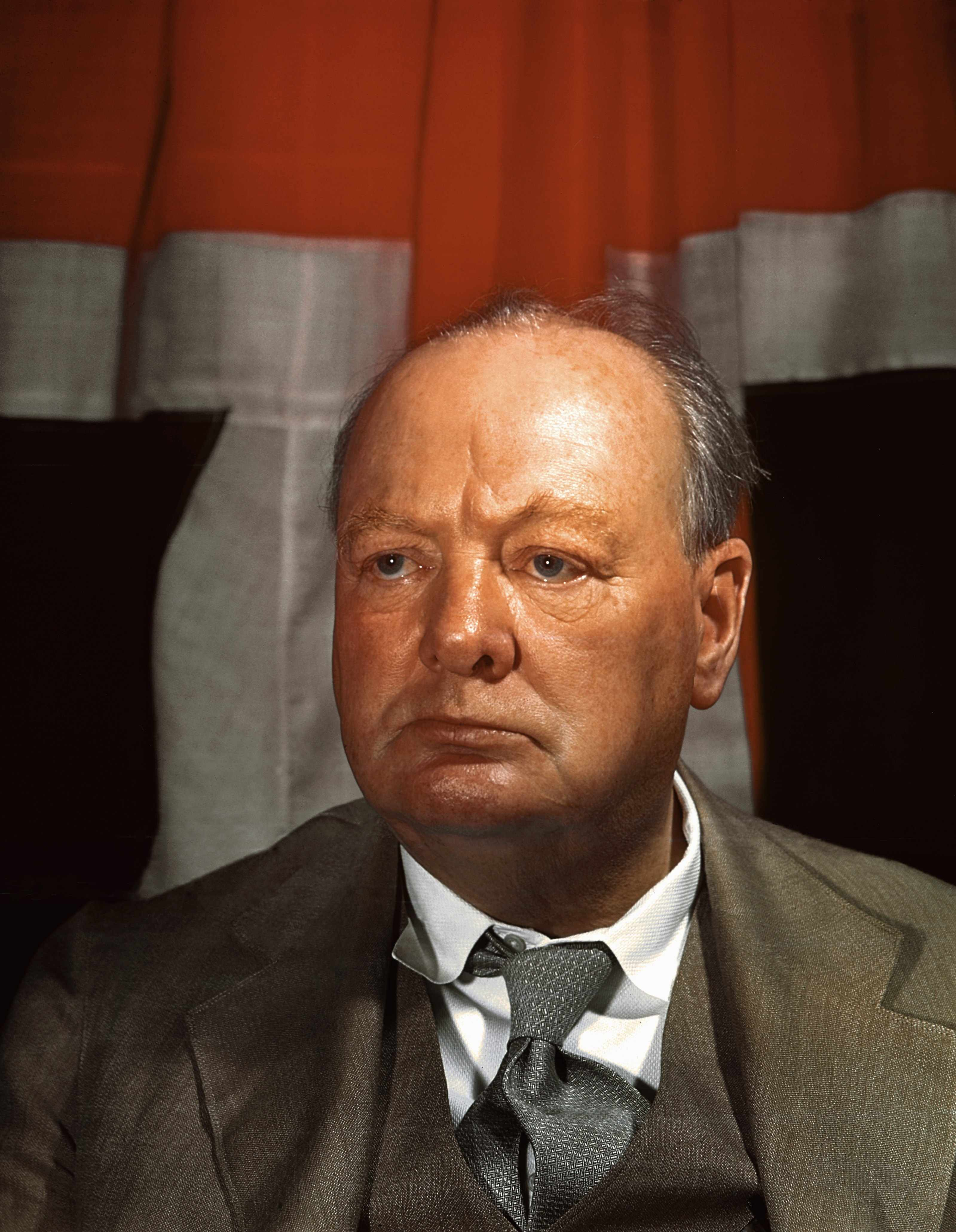A portrait of Winston Churchill