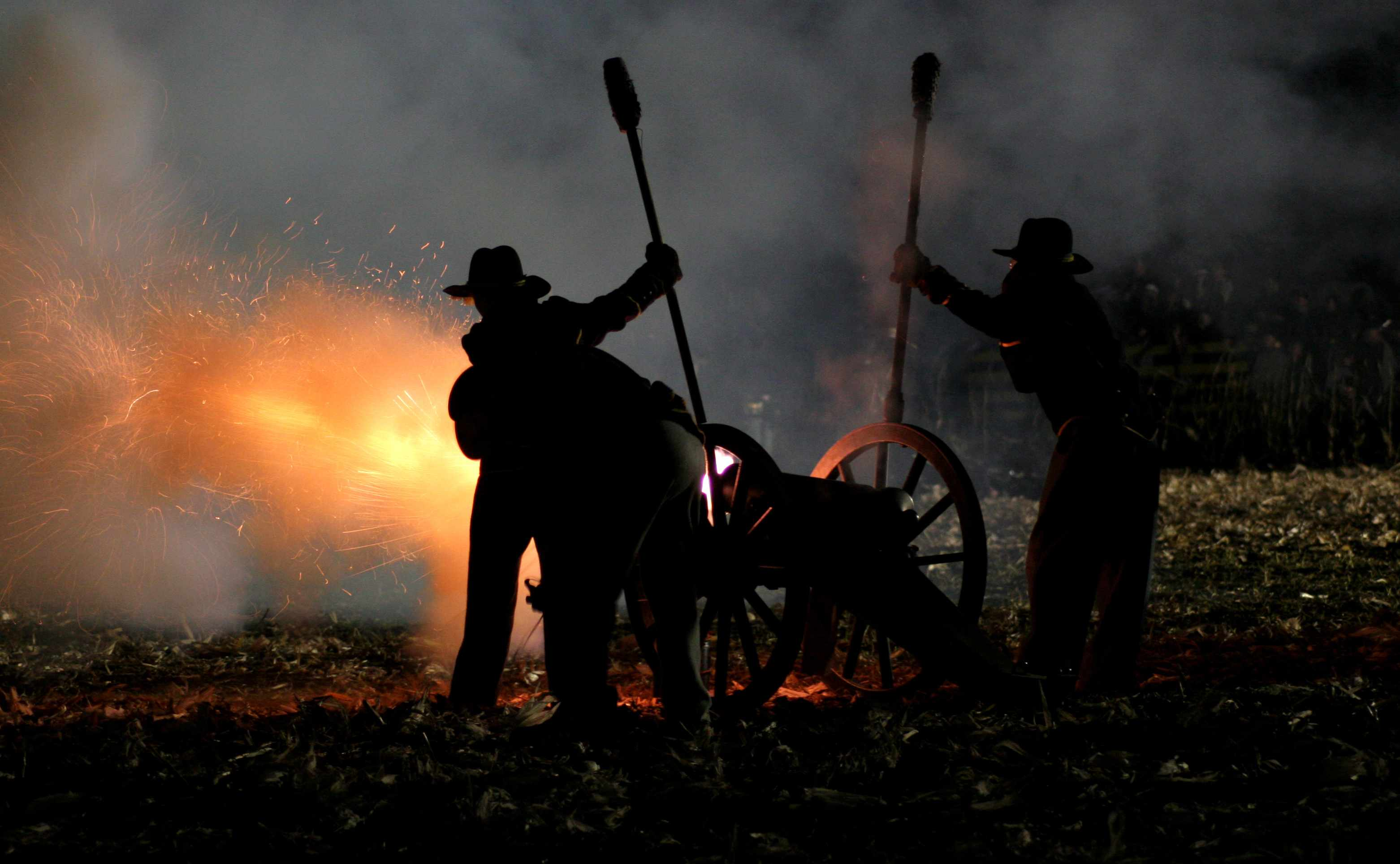 A re-enactment of the American Civil War. The conflict looms large in the US psyche 150 years after if began. (Getty Images)