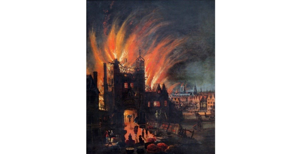 "On 2 September 1666 London was engulfed in ""an infinite great fire"". (Photo by Universal History Archive/Getty Images)"