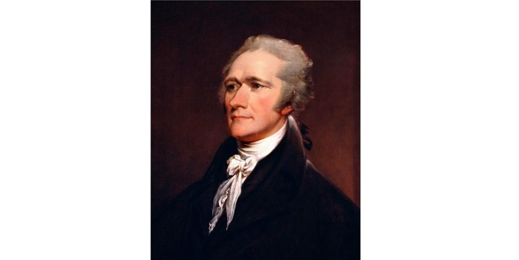 A portrait of Alexander Hamilton by John Trumbull, 1806. (Photo by IanDagnall Computing/Alamy Stock Photo)
