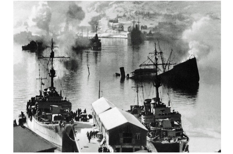 The remains of a 1940 naval battle in Narvik, Norway – several battles between German and Norwegian forces took place in the Ofotfjord in the spring of 1940. (Photo by Galerie Bilderwelt/Getty Images)