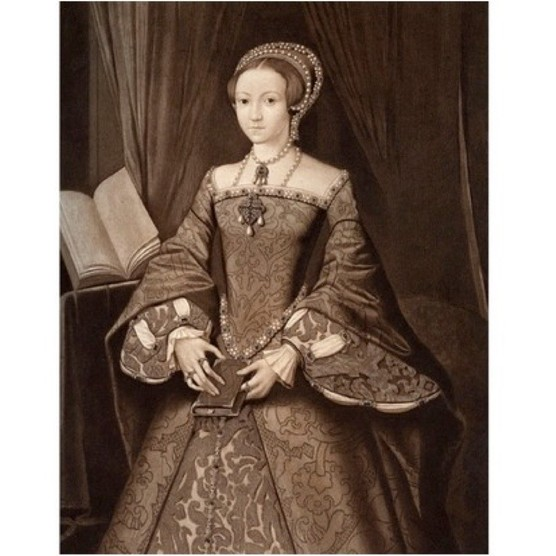 Princess Elizabeth, later Queen', c1547, (1902). Portrait of the future Queen Elizabeth I (1533-1603) aged 14, before she was expected to be queen. Illustration, after a picture in the Royal Collection at Windsor Castle, from Henry VIII, by A F Pollard, published by Goupil and Co, (London, New York, Paris, Edinburgh, 1902). (Photo by The Print Collector/Print Collector/Getty Images)