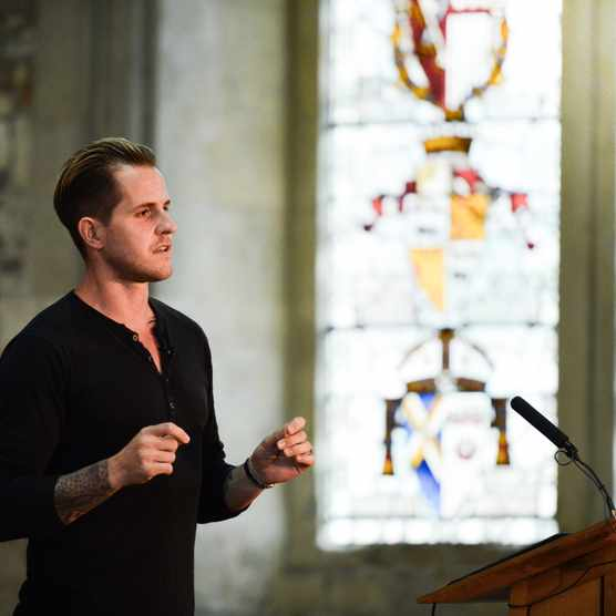 Dan Jones speaking at Winchester History Weekend 2017.