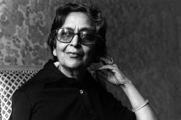 PARIS, FRANCE - MARCH 29:  Indian writer Amrita Pritam poses during portrait session held on March 29, 1983 in Paris, France. (Photo by Ulf Andersen/Getty Images)