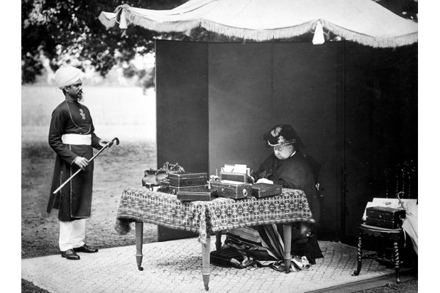 Queen Victoria and Abdul Karim. (Image by Lebrecht Music and Arts Photo Library / Alamy Stock Photo)