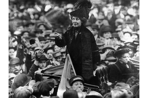 Emmeline Pankhurst. (Photo by Topical Press Agency/Getty Images)