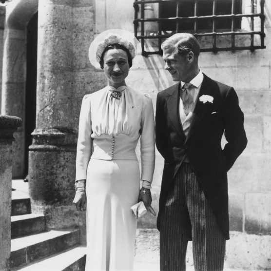 The Duke of Windsor and Wallis Simpson at their marriage