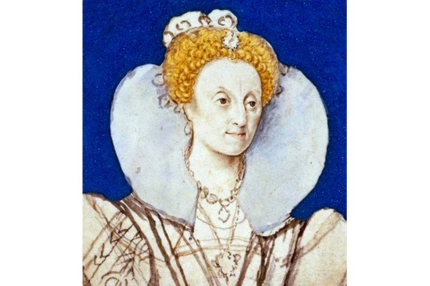 UNSPECIFIED - CIRCA 1754: Queen Elizabeth I c.1590-1592. Preparatory sketch by Isaac Oliver. (Photo by Universal History Archive/Getty Images)