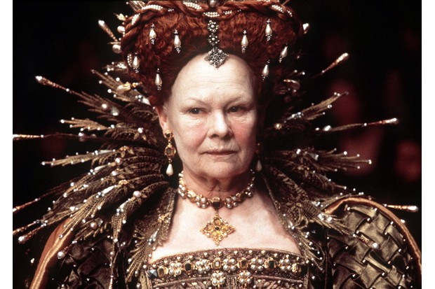 Dame Judi Dench as Queen Elizabeth I in the 1998 film 'Shakespeare in Love'.