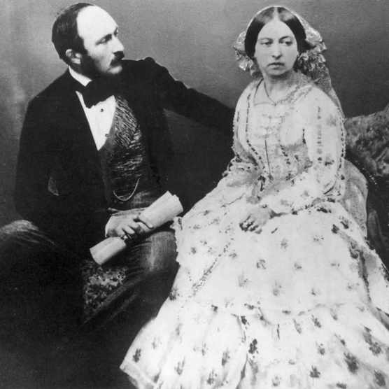 Prince Albert and Queen Victoria posing for photographer Roger Fenton, 30 June 1854. (Photo by Time Life Pictures/Mansell/The LIFE Picture Collection/Getty Images)