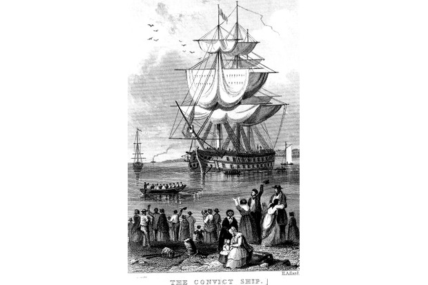 Transportation of convicts from Britain to Australia