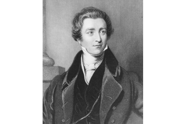 Portrait of former British prime minister Sir Robert Peel