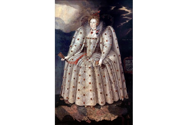 Portrait of Queen Elizabeth I of England (The Ditchley portrait). Painting by Marcus Gheeraerts (Gerards or Geerards) the Younger (1561-1635) Circa 1592. 2,41 x1,52 m. National Portrait Gallery, London (Photo by Leemage/Corbis via Getty Images)