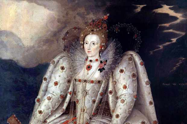 The portrait of Queen Elizabeth I known as the Ditchley portrait, painted by Marcus Gheeraerts the Younger. (Photo by Leemage/Corbis via Getty Images)
