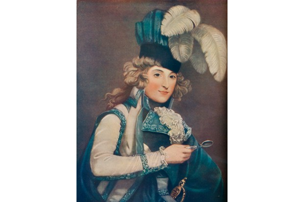 Dora Jordan, a celebrated Anglo-Irish comedienne of the 18th/19th century, in a portrait by John Jones