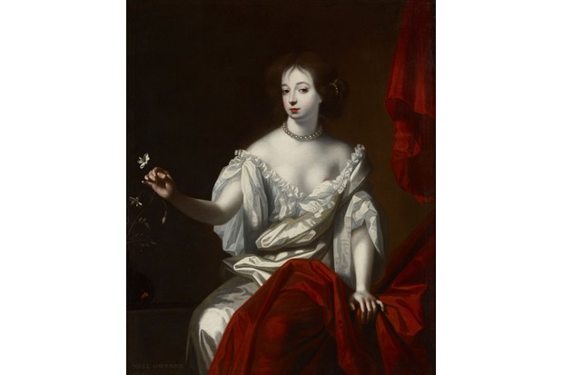 A portrait of actress Nell Gwynn, longtime mistress to King Charles II
