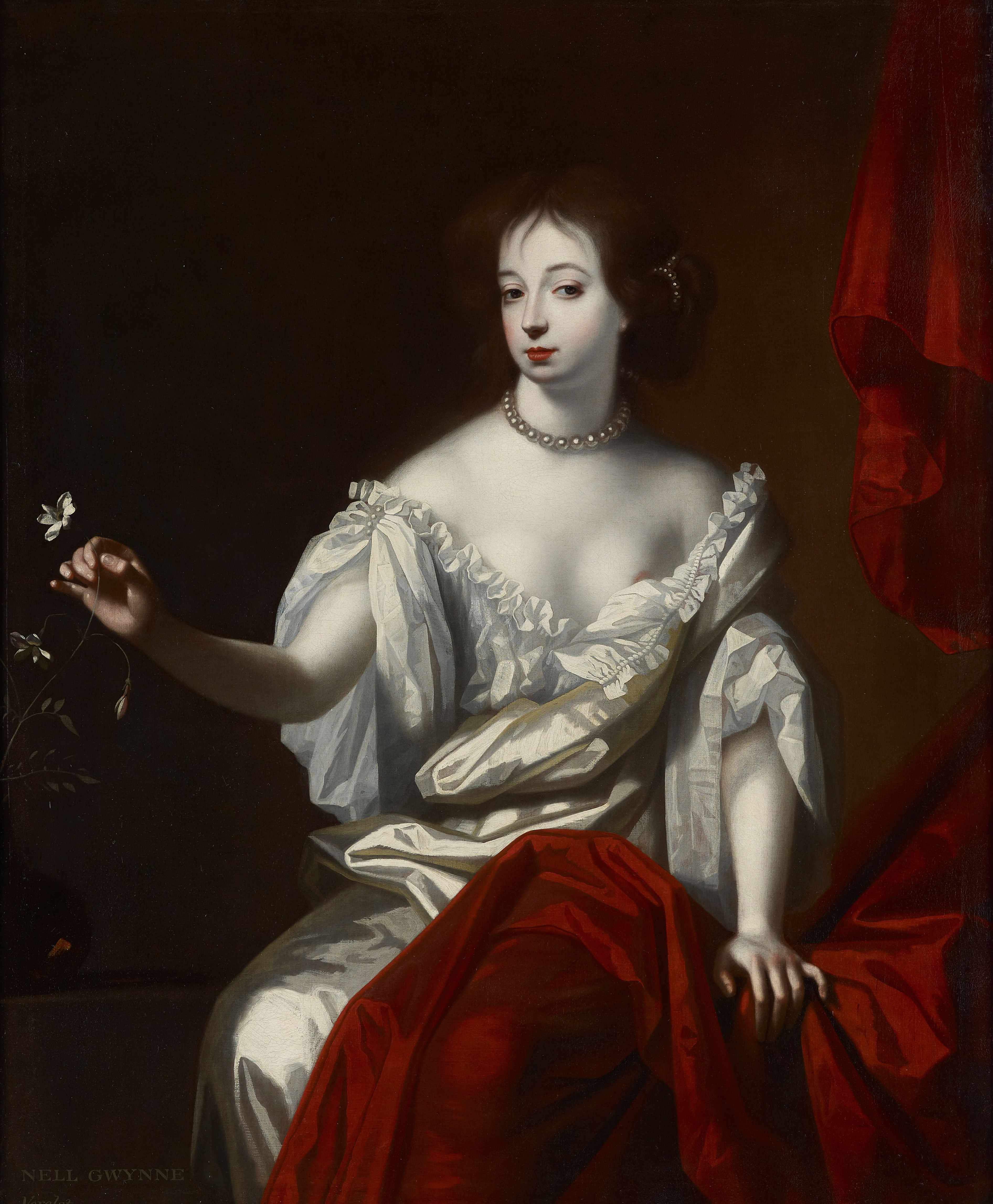 A portrait of actress Nell Gwynn, longtime mistress to King Charles II.