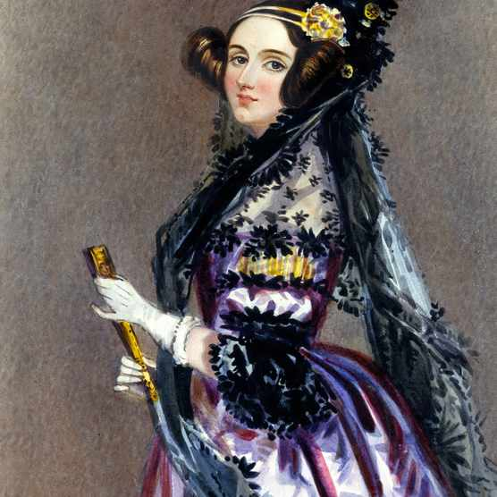 CIRCA 1840:  An Alfred Edward Chalon watercolor of Augusta Ada King-Noel, Countess of Lovelace (nee Ada Byron) daughter of Lord Byron circa 1940. (Photo by Donaldson Collection/Michael Ochs Archives/Getty Images)