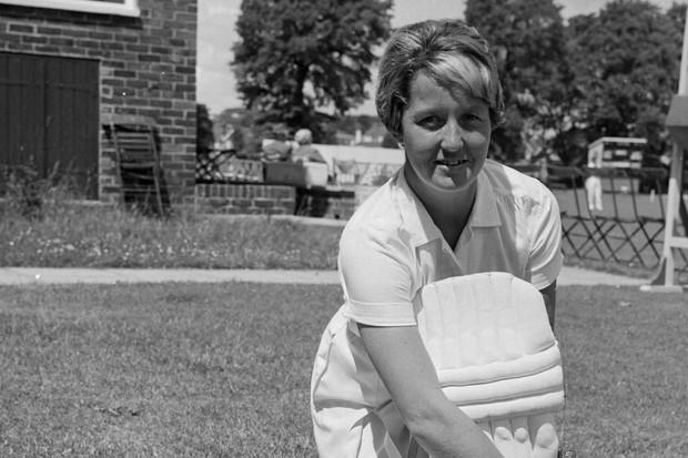 Rachel Heyhoe Flint. (Photo by Reg Speller/Fox Photos/Getty Images)