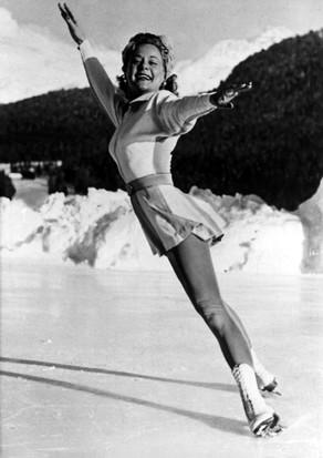Sonja Henie. (Photo by ullstein bild/ullstein bild via Getty Images)