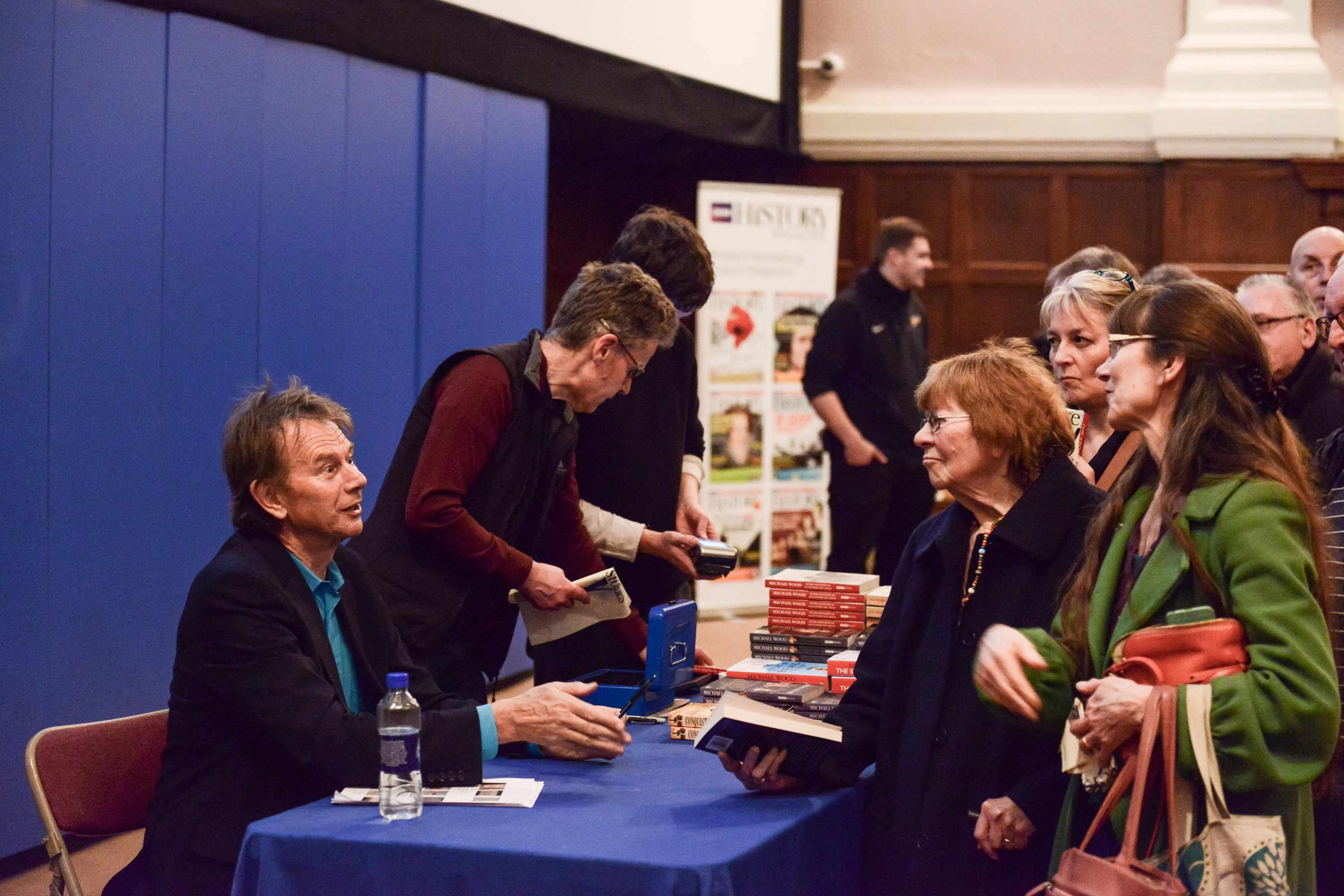 Michael Wood greets his fans at York History Weekend 2017.