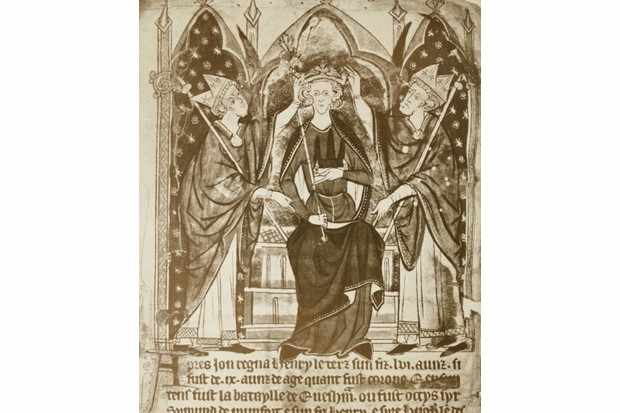 A 13th-century depiction of the coronation of King Henry III in 1216. (Photo by Universal History Archive/UIG via Getty Images)