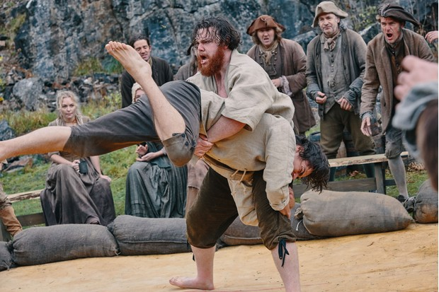 "The Cornish wrestling scene ""captures the ways in which Poldark mixes romance and high drama with a nuanced historical context"", says Hannah Greig. (Photo by BBC/Mammoth Screen/Mike Hogan)"