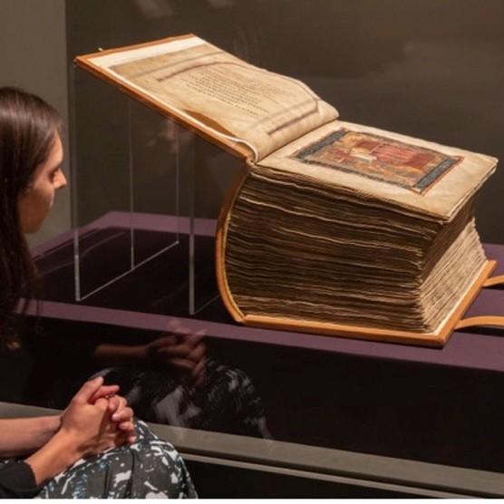 "The remarkable Codex Amiatinus, a ""brute of a book"", and part of a new exhibition at the British Library. (c) Sam Lane Photography/British Library)"