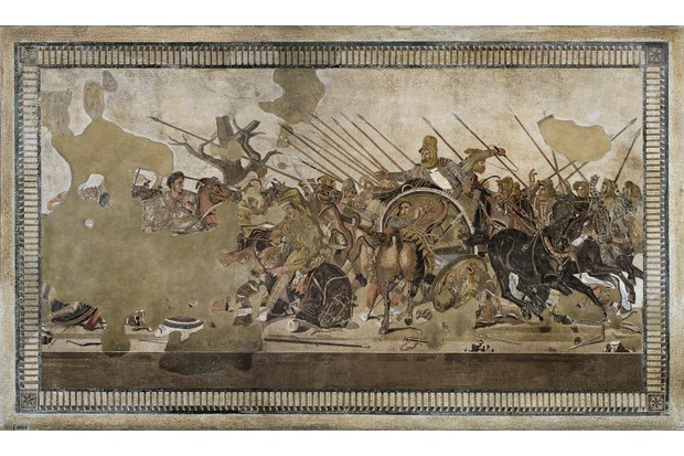 The Alexander Mosaic: a celebrated ancient mosaic which was found in the largest house in Pompeii. (Photo By DEA / G. NIMATALLAH/De Agostini/Getty Images)