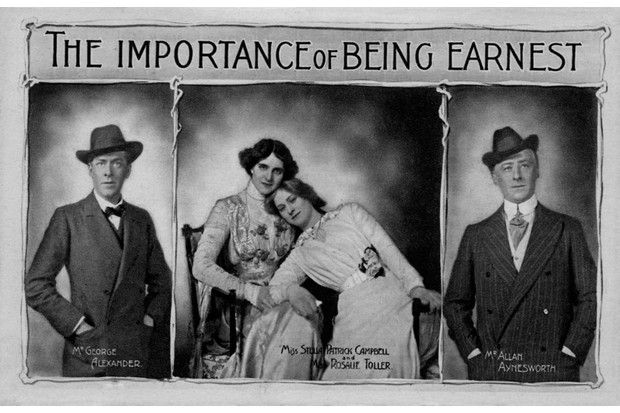 A poster for Wilde's play 'The Importance of Being Earnest'. (Photo by Culture Club/Getty Images)