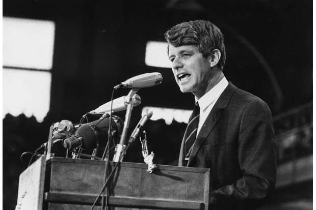 Joseph Kennedy felt that Rosemary's increasingly erratic behaviour might jeopardise his family's political ambitions. Here, Senator Robert Kennedy speaks at an election rally in 1968. (Photo by Harry Benson/Express/Getty Images)