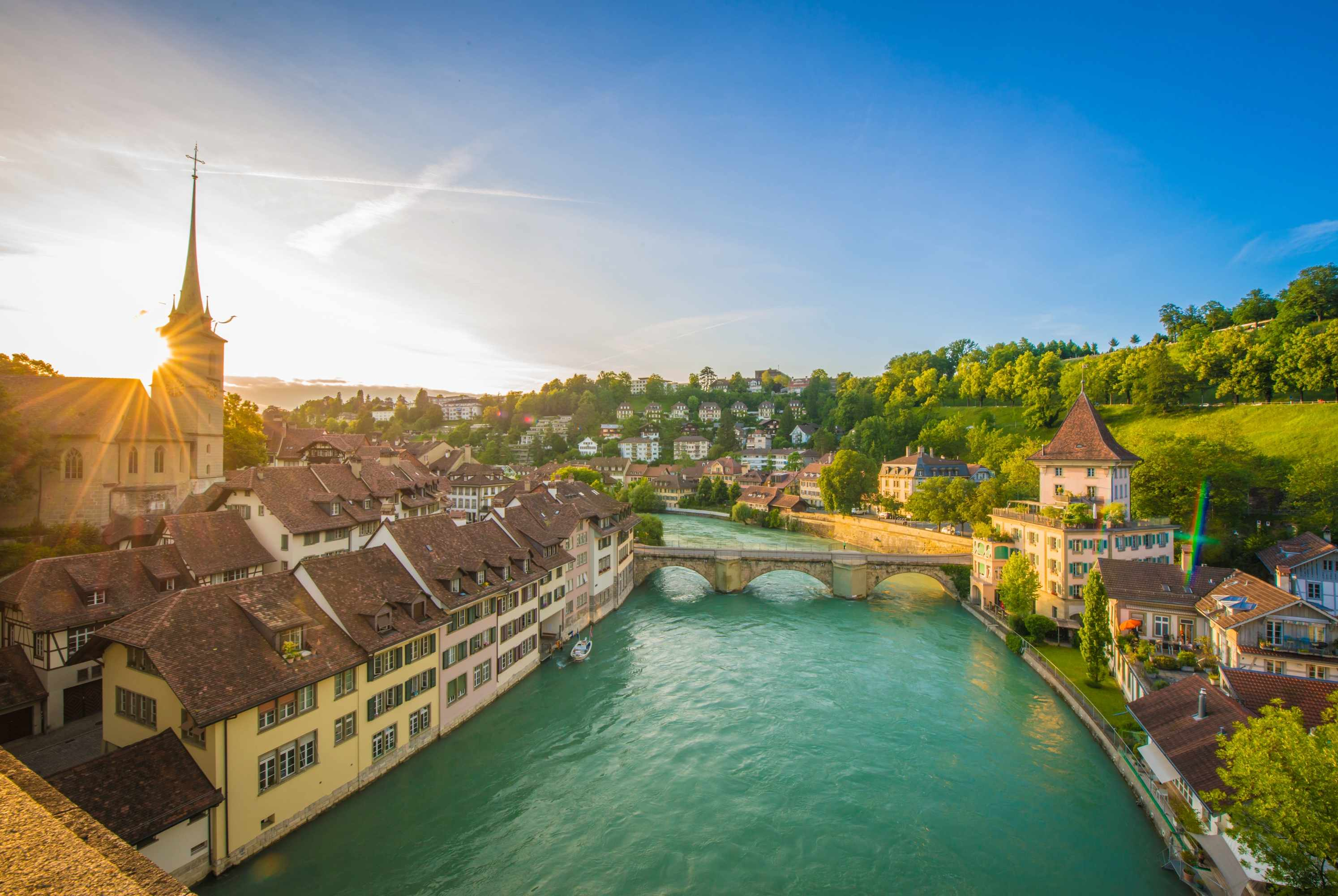 "The city of Bern, Switzerland. ""I loved the pace of life in Bern, and the nature – the river, the alps, the great-quality dairy products,"" says Seán Williams. (Photo by Chinnaphong Mungsiri via Getty Images)"